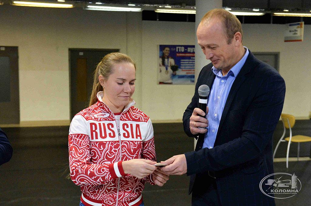 Ольге Граф был вручен золотой знак отличия ГТО