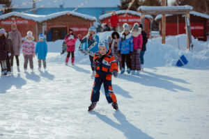 Зимние забавы на Житной площади