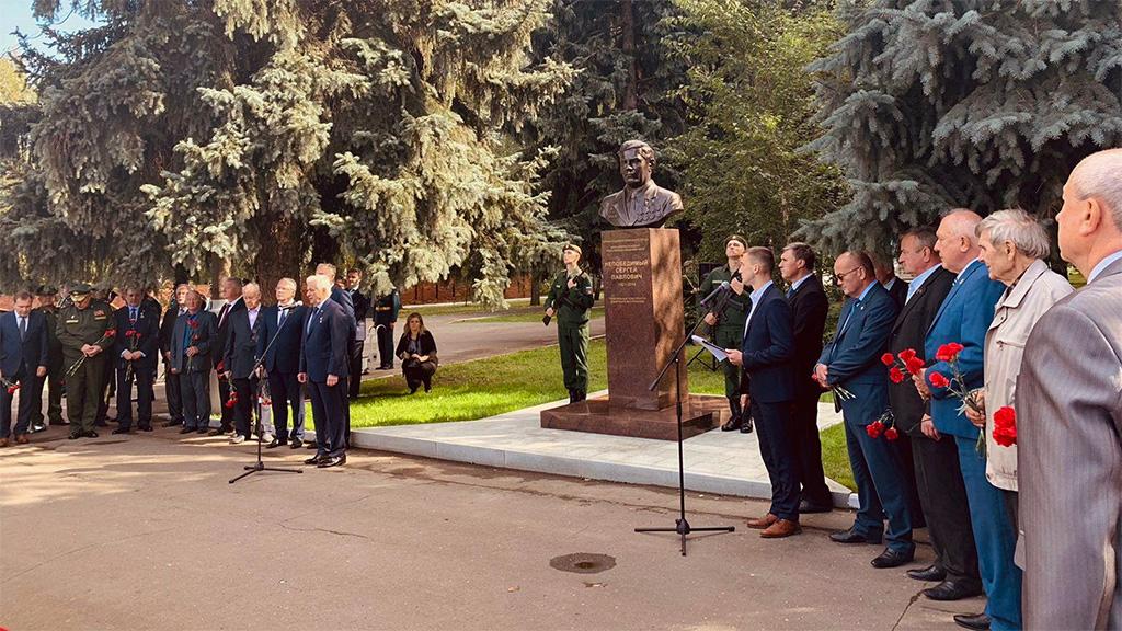 Бюст С. Непобедимого открыли в Мемориальном парке
